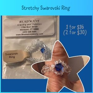 Fun Double strand Swarovski bead ring